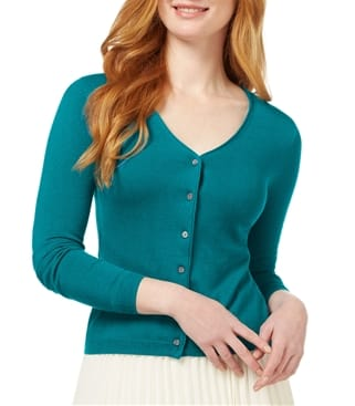 Click to view product details and reviews for Womens Silk And Cotton Soft Feel V Neck Cardigan Xxl Teal.