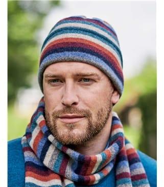 Mens Multi Stripe Hat