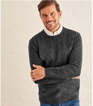 Mens Lambswool Crew Neck Sweater