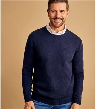 Mens Lambswool Crew Neck Jumper