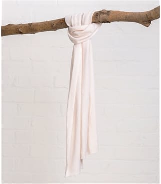 Image of Cashmere and Merino Luxurious Soft Touch Scarf 1size Cream