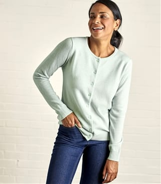 Click to view product details and reviews for Womens Cashmere Merino Classic Crew Neck Cardigan Xs Cool Mint.