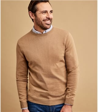 Cashmere Merino Crew Neck Sweater