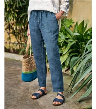 Linen Tapered Leg Trouser