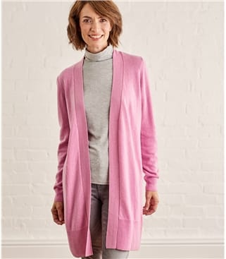 Click to view product details and reviews for Womens Cashmere And Merino Edge To Edge Long Cardigan Xl Pale Rose.