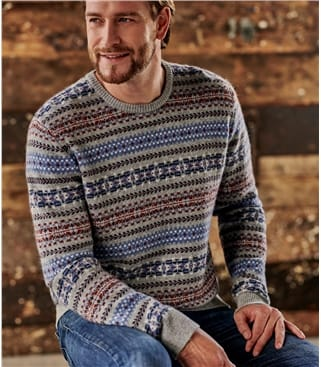 Mens All Over Fairisle Sweater