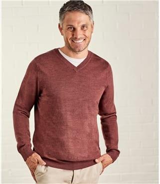 Мужской пуловер из натуральной шерсти мериноса