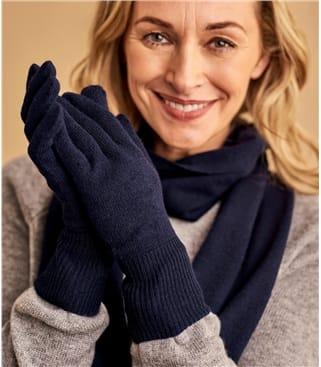 Handschuhe aus Merino- und Kaschmirwolle für Damen