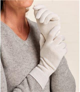 Перчатки из кашмира и шерсти мериноса