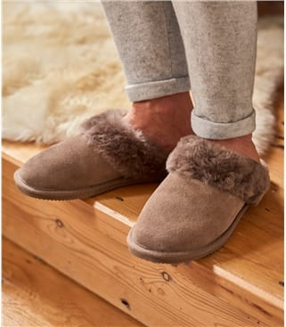 Womens Sheepskin Mule Slipper UK 3 Mink