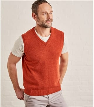 Mens Lambswool Knitted Slipover