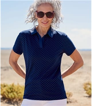 Womens Jersey Polo Shirt