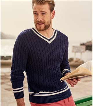 Mens Cotton Cricket Sweater