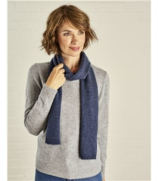 Image of Cashmere and Merino Luxurious Soft Touch Scarf 1size Denim Marl