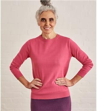100% Cotton Crew Neck Sweater
