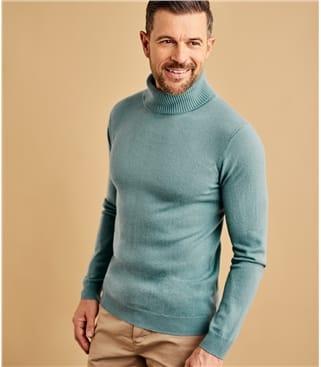 Мужской свитер из кашемира и шерсти мериноса