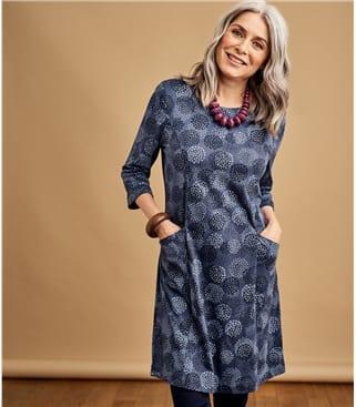 Tunique avec poches à manches ¾ - Femme - Jersey