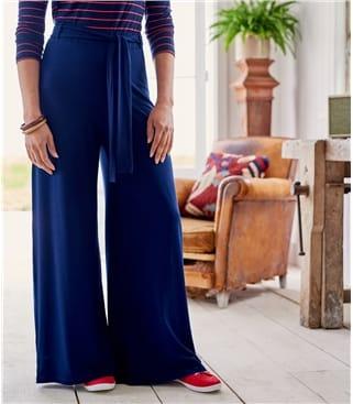 Jersey Hosen mit weitem Bein für Damen