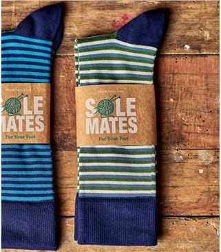 Mens Stripe Bamboo Sock
