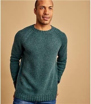 Pullover mit Perlmuster aus Lammwolle für Herren
