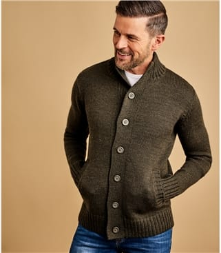 "Cardigan ""Everyday"" boutonné - Homme - Pure Laine"