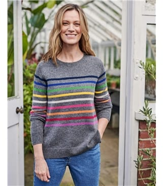 Multi Stripe Lambswool Jumper