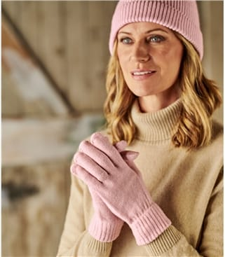 Womens Essential Lambswool Glove