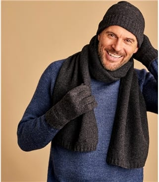 Mens Essential Lambswool Scarf