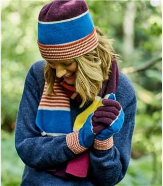Lambswool Colourblock Stripe Hat