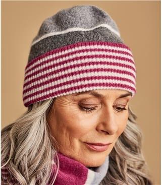 Lambswool Colourblock Stripe Hat
