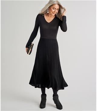Womens Pleat Dress