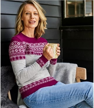 Womens Pure Merino Fairisle Jumper