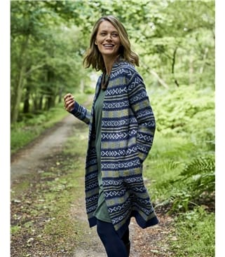 Edge To Edge Fairisle Reverse Coatigan