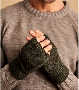 Mens Donegal Tweed Fingerless Glove