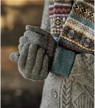 Мужские жаккардовые перчатки