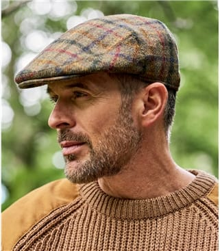 Mens Tweed Flat Cap
