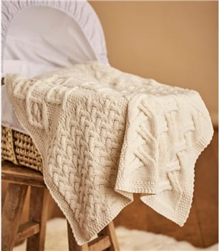 Supersoft Merino Cot Blanket 1size Cream