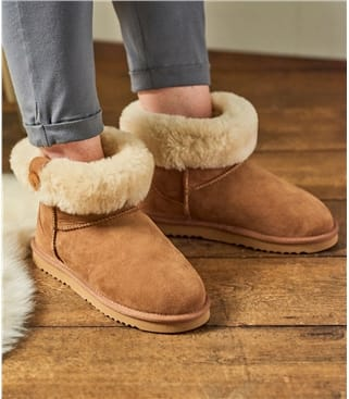 Womens Sheepskin Roll Down Boots