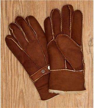 Handschuhe aus Schafleder mit Schnallen-Detail Damen