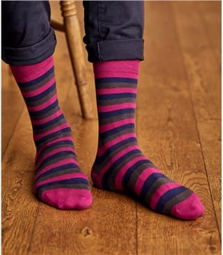 Mens Pima Cotton Stripe Sock