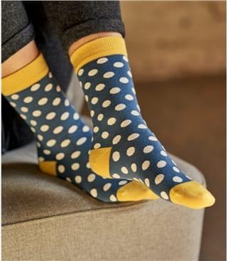 Socken mit Tupfen aus Bambus für Damen