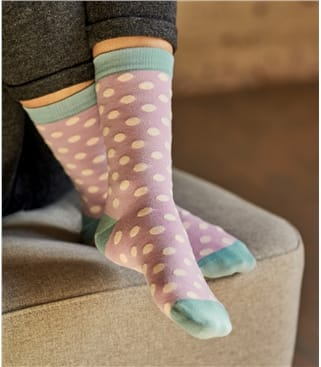 Женские носки в горошек