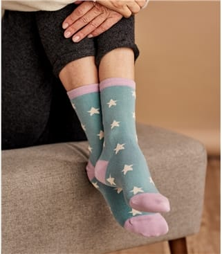 Womens Bamboo Star Sock