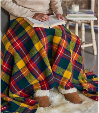 Pure Wool Tartan Knee Blanket