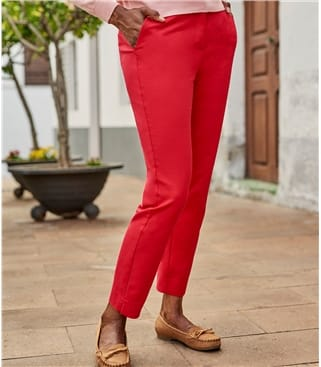 Classic Stretch Straight Leg Pant 16 Cherry