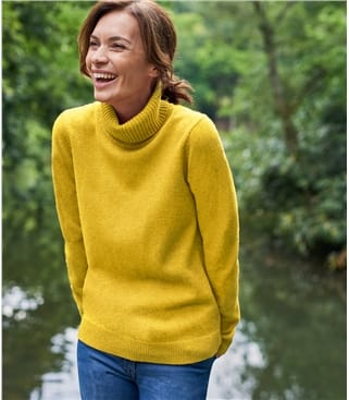 Womens Lambswool Polo Jumper