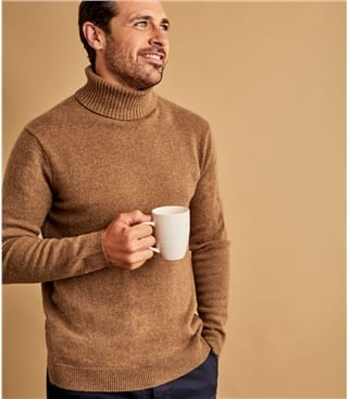 Mens Lambswool Turtle Neck Sweater