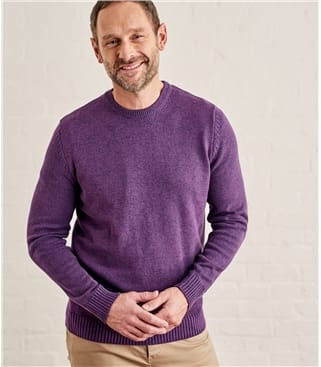 Mens 100% Cotton Crew Neck Sweater