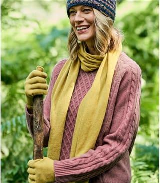 Klassischer Schal aus Merino- und Kaschmirwolle für Damen