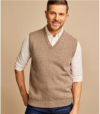 Mens Lambswool Knitted Vest